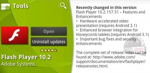 Flash Update Android 3.1