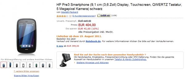 HP Pre3 Amazon