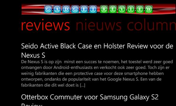 Gadget Review Windosw Phone App